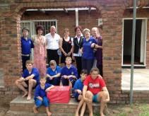 Sonstraal School representatives and children with Shangri-La Management